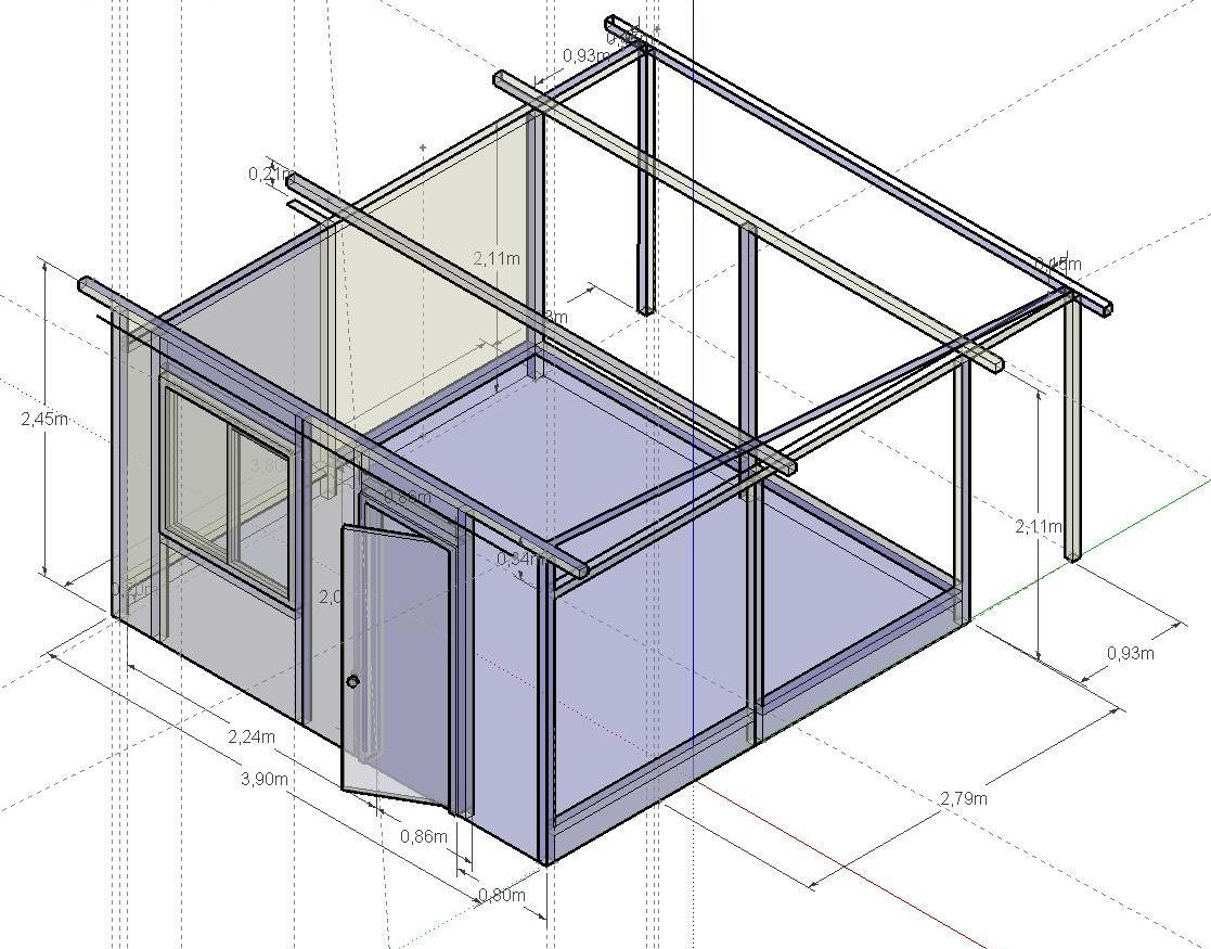 Sections des bois pour abri de jardin (bac acier + clins) ?  19