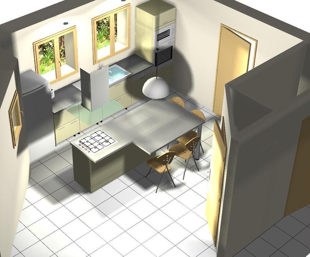 Implantation d 39 une cuisine avec il t votre avis merci for Voir cuisine