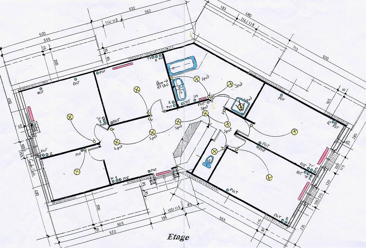 Plan villa electrique